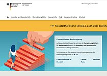 Screenshot Website Bundeshilfen