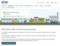 Screenshot Website kfw